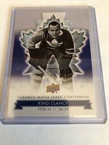 King-Clancy-2017-UD-Toronto-Maple-Leafs-Centennial-Die-Cut-20-SP