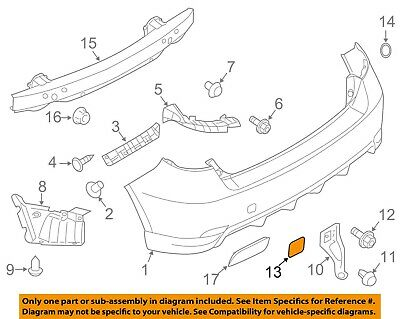 SUBARU OEM 08-15 Impreza Rear Bumper-Tow Hook Eye Cap Cover 57739FG000