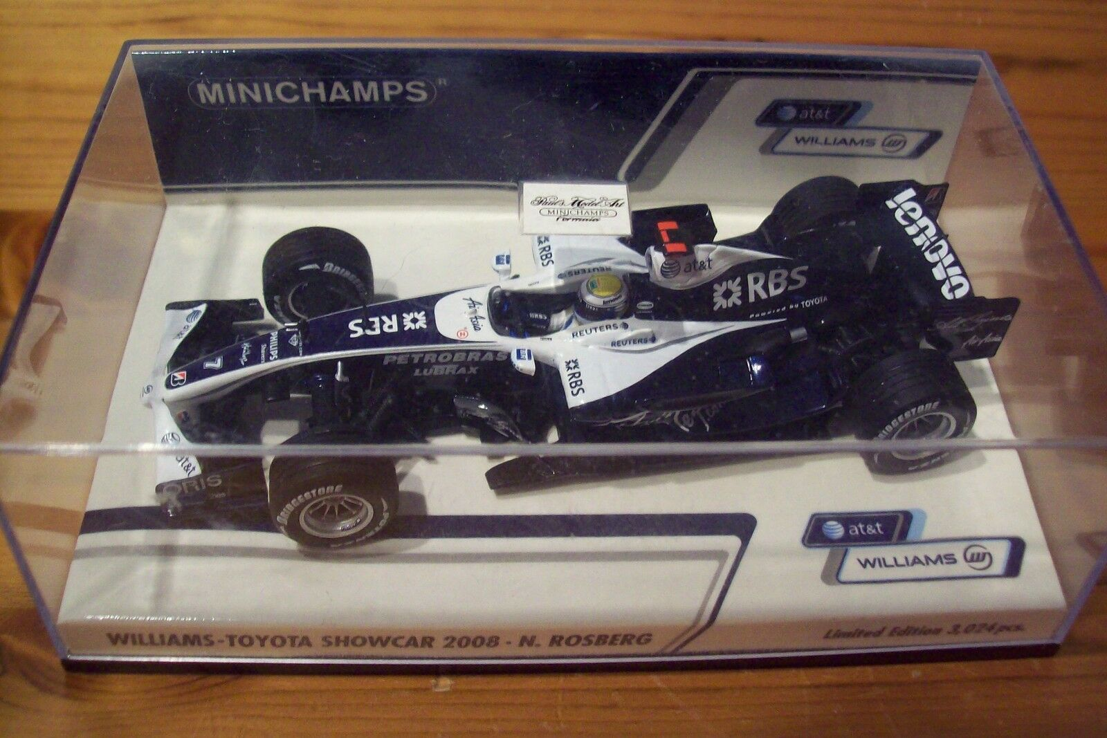 1 43 WILLIAMS 2008 SHOWCAR TOYOTA NICO ROSBERG