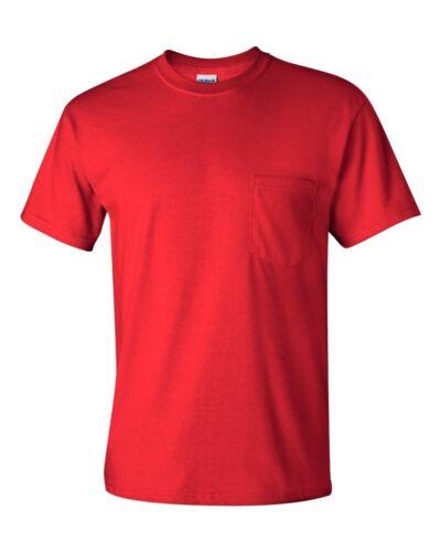 Gildan NEW Mens Size S-XL 2XL 3XL 4XL 5XL Pocket Tees 100/% Cotton T-Shirt G230