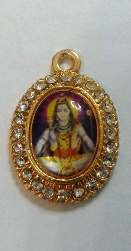 Shivji Mahadev Jai Maa Sherawali Small Gold Plated Hindu Religious Pendants