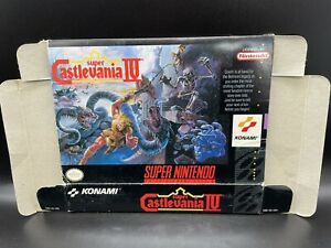 Super Castlevania IV Super Nintendo SNES BOX ONLY NO GAME NO INSERTS Authentic