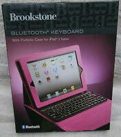 Brookstone Bluetooth Keyboard With Portfolio Case For Ipad 2, 3rd Gen - Pink
