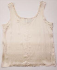 Worth-Silk-Top-Beige-Size-8-Sleeveless-Shirt-Womens-Sz-Buff-Nude-Cream-RN-73058