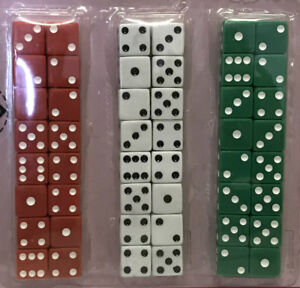 Bulk-Lot-24-x-Dice-6-Sided-Standard-Gaming-Assorted-Bar-Pub-Party-Favors-Novelty