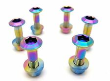 RAINBOW Titanium Sprocket Bolts and Nuts kit by Flo Motorsports Dirtbike