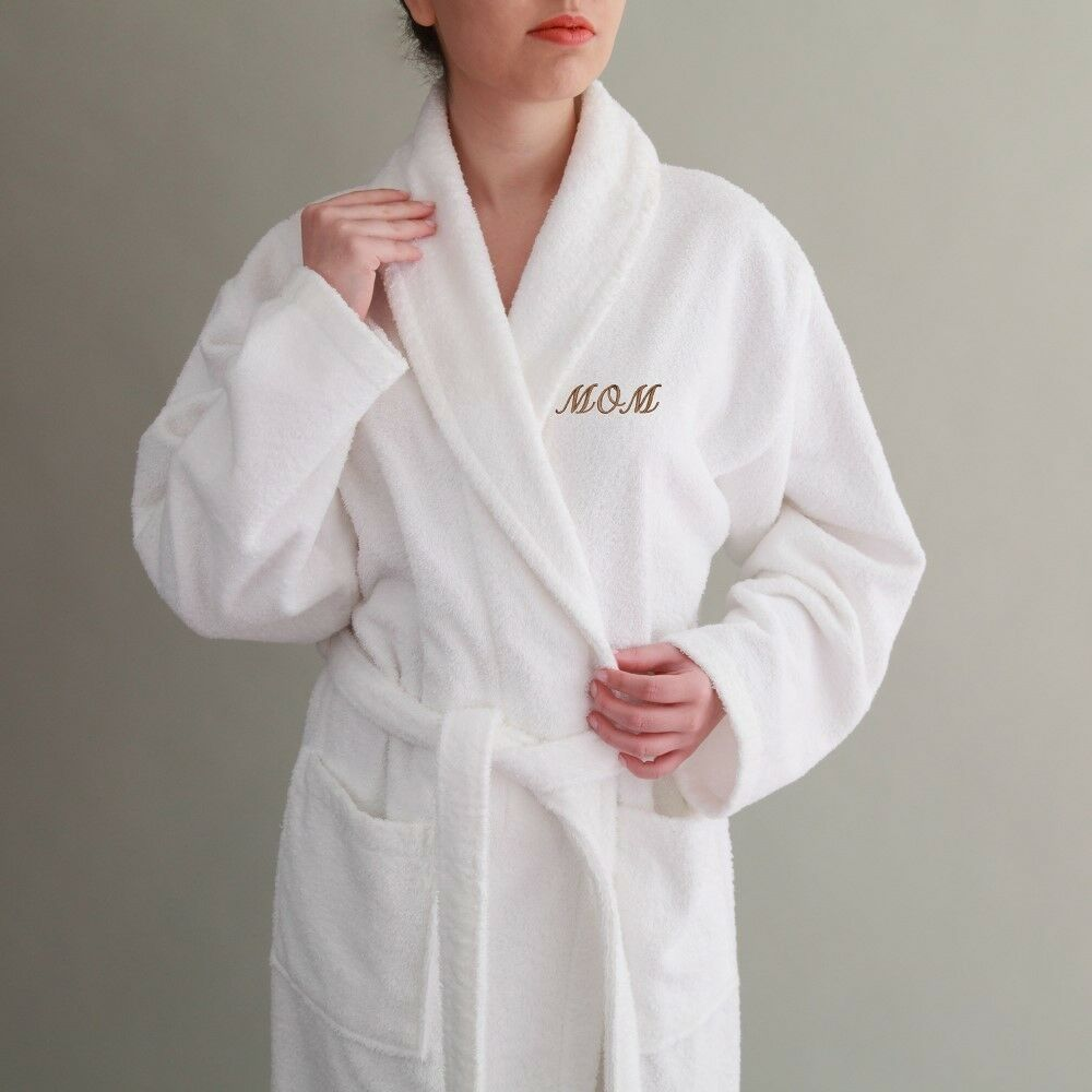 Mr Egyptian Cotton robe Terry Terry Terry Towelling Bathrobe- Addtional monogram embroidery a27a27