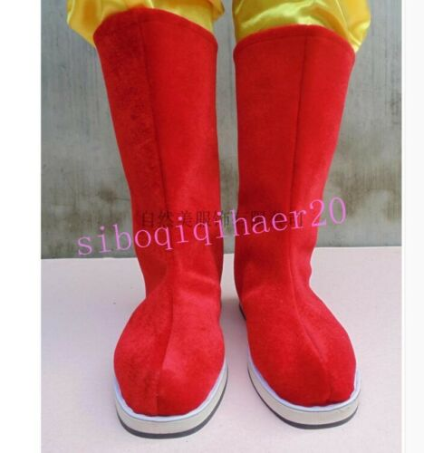 Chinese Men/'s Swordsman Boots Hanfu Cosplay Mid-Calf Boots Flats Shoes EUR 37-48