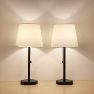Haitral Table Lamp Set Of 2 Modern Desk Light Black