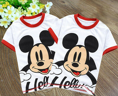 Lovely Baby Kids Boys Girls Mickey Mouse Printed Tops Shirts T-shirt 2-7Y XY#
