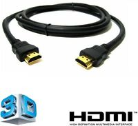 GOLD 1080P HDMI CABLE LEAD SMART HD TV HDTV 3D METRE 1m 2m 5m 10m 15m 1.4V PS3