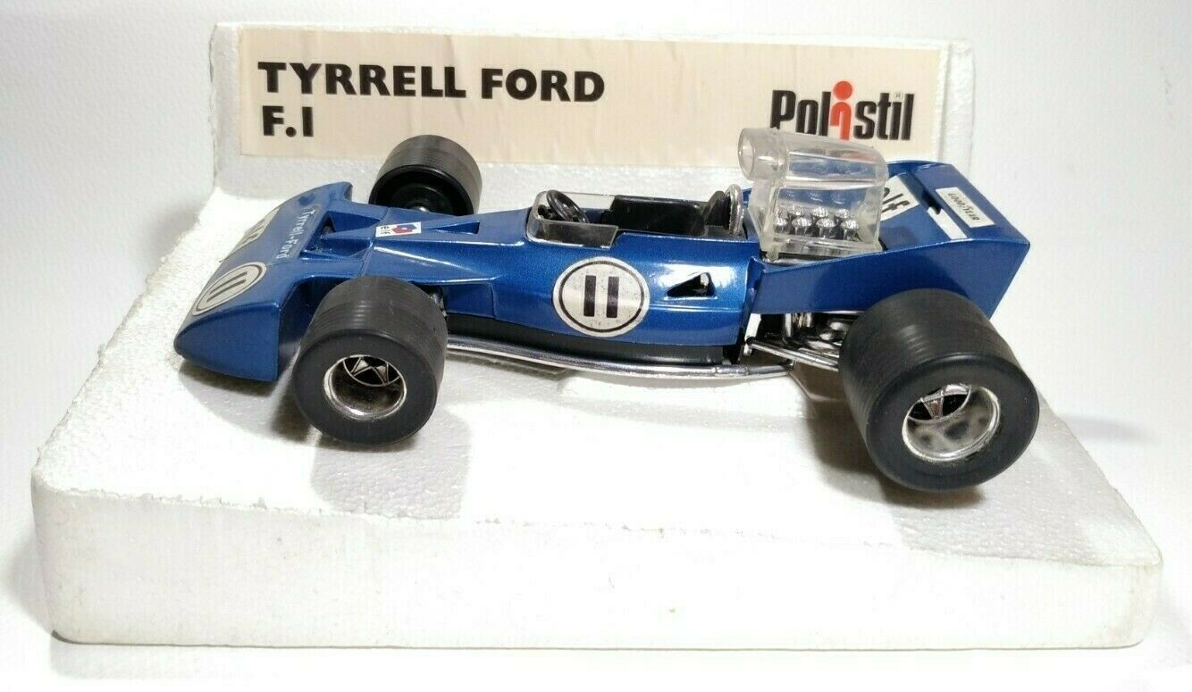 Polistil TyrrellフォードF 1 1 / 25ビンテージ1975イタリア製.