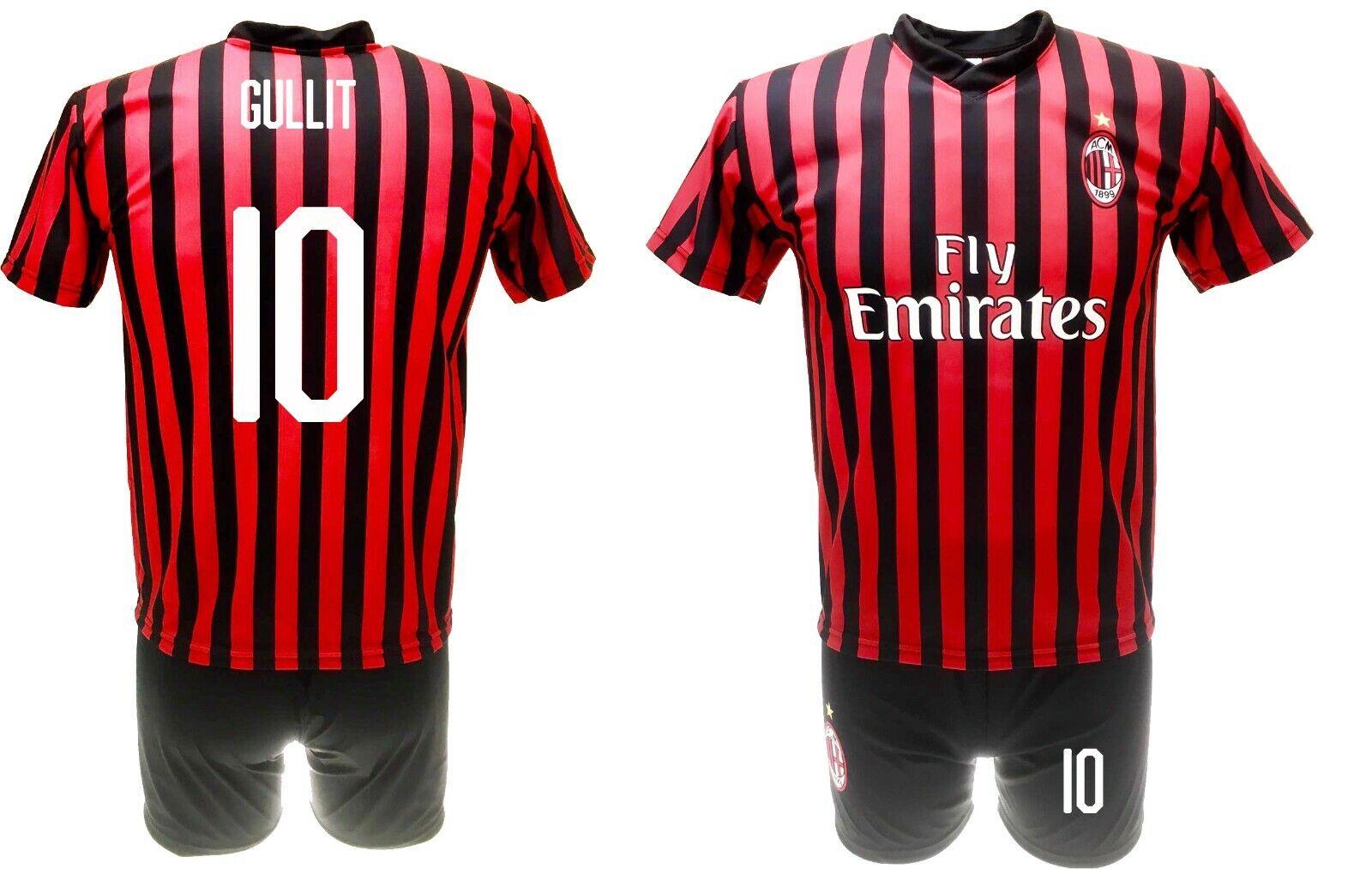 Completo Gullit Milan 2020 Ufficiale Divisa 2019   maglia pantaloncini Ruud 10  nuevo estilo