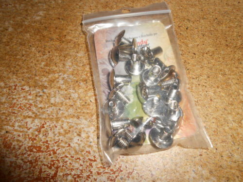 1291-02 10 Pack of 3//8 inch Nickle Plate Steel Screw Posts