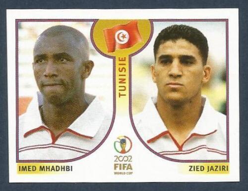 PANINI KOREA//JAPAN WORLD CUP 2002 #575-TUNISIA-IMED MHADHBI ZIED JAZIRI