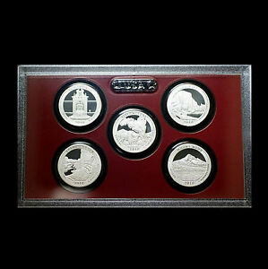 2010-S-America-the-Beautiful-National-Parks-Silver-Proof-Set-No-Box-No-COA