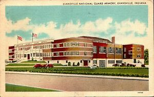 Evansville, Indiana IN ~ National Guard Armory 1940s %   eBay