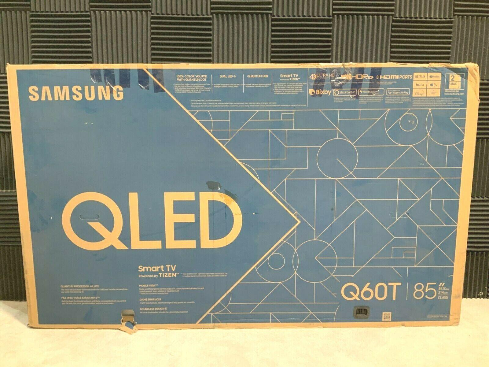 Samsung Q60T 85 QLED Smart TV (4K) QN85Q60TAFXZA Open Box Nice! ❤️️✅❤️️✅READ. Available Now for 1749.99