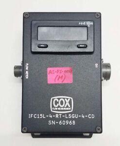 COX DUAL ROTOR TURBINE FLOWMETER IFC15 Badger Meter P/N DL8