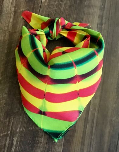 """Details about  /Bandana Tie Dye Multi Green Yellow Swirl Unisex Pre-washed Poly 20/"""" sq NEW"""