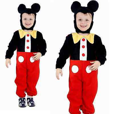 Toddler Mickey Mouse Boy Fancy Dressing Up Disney Costume Outfit Hat Ears Hat