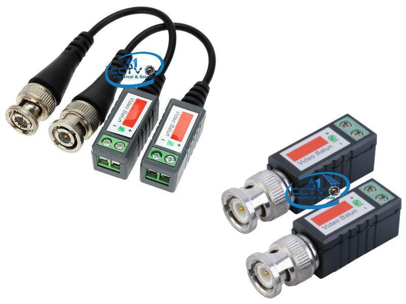 2 x Video Balun BNC DVR UTP CAT5 Passive Transmitter for CCTV// Security Camera
