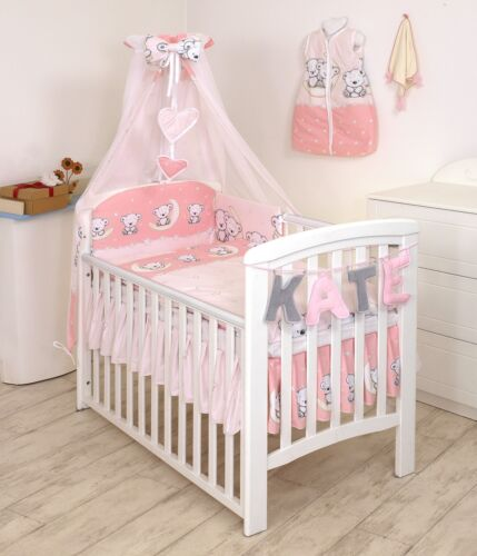 BLACK ZIGZAG NURSERY BABY BEDDING SET COT//COT BED inc BUMPER+COVERS+DUVET+MORE
