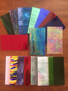 Stained-Glass-Sheet-Variety-Pack-of-10-7-034-X-4-034-Pieces-of-Premium-Glass