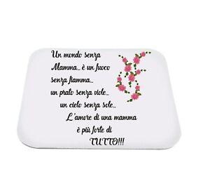 Mouse Pad Tappetino Pc Scritta Mamma Poesia Idea Regalo Festa