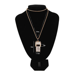 Female-Fashion-Jewelry-Pendant-Gold-Plated-Crystal-Chain-Whistle-Necklace-Charms