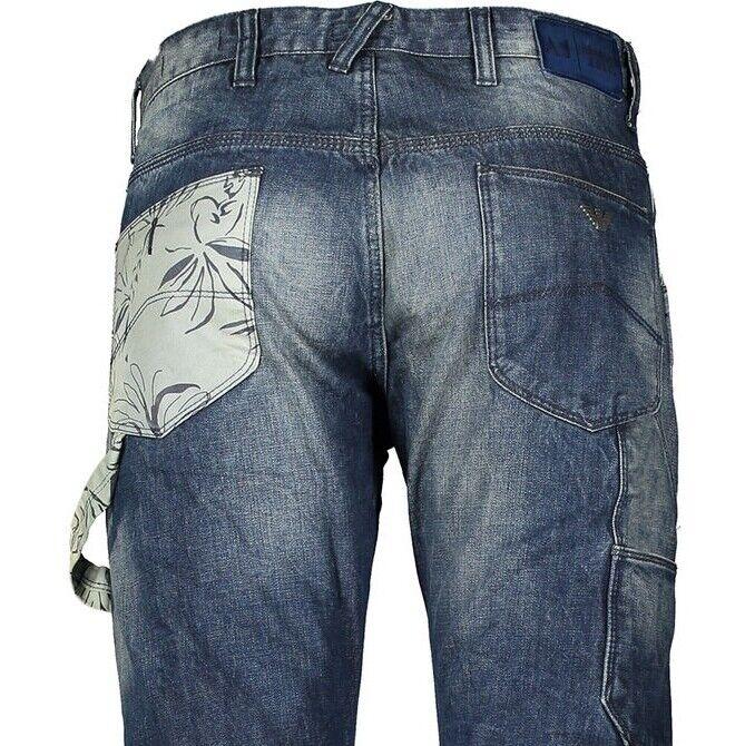 ARMANI JEANS J02 Denim bluee Antifit Low Credch Jeans Trousers W30L W30 x 34L NEW
