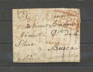 1811-Lettre-Marque-P58P-CHANTILLY-Pour-l-Italie-2-pieces-connues-X4630