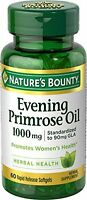 2 Pack - Nature's Bounty Evening Primrose Oil 1000 Mg Softgels 60 Each on sale