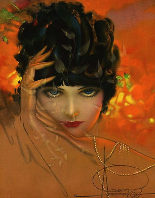 Art Nouveau/Art Deco/Rolf Armstrong/Dream Girl/Woman in Pearls/11x14 inch