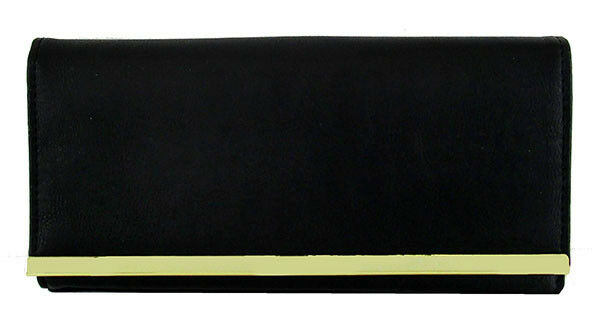 ** STYLE & CO Black Faux Leather Clutch Wallet Msrp