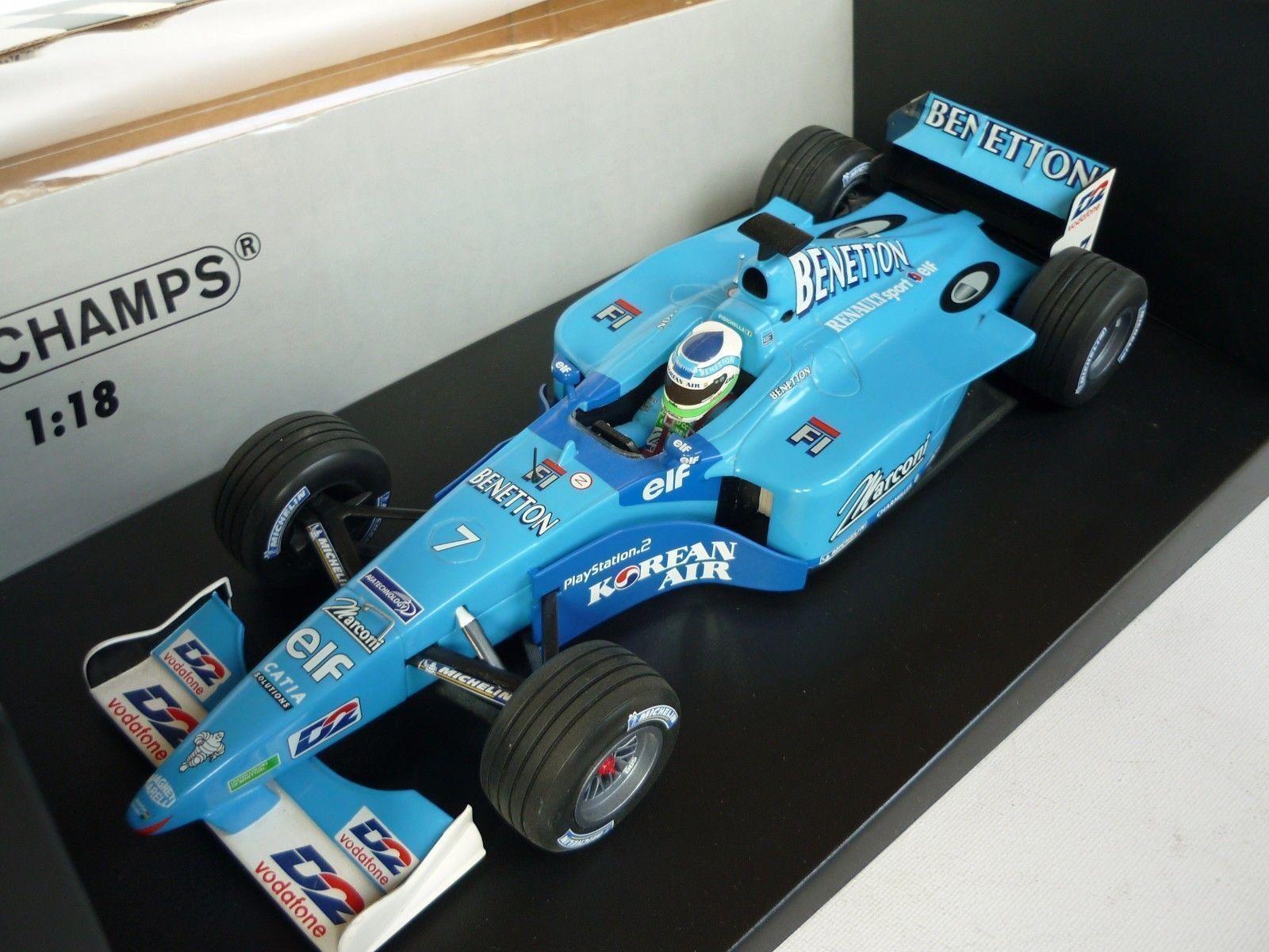 Benetton - renault showcar 2001 g. fisitchella 2001 minichamps 1   18 180010097