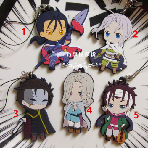 The Heroic Legend of Arslan Daryun Narcasse Anime Keychain Key Ring Rubber