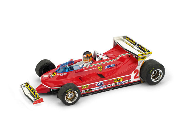 FERRARI 312 t5 G. Villeneuve 1980  2 5th Monaco GP + driver 1:43 MODEL Brumm