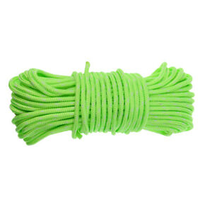 4MM Fluorescent Reflective Guyline Camping Tarp Tent Rope Guy Line Cord Paracord