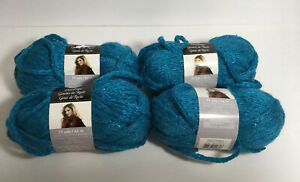4-Loops-amp-Threads-Dewdrops-Sequin-Yarn-6-Super-Bulky-Color-8-Turquoise-Lot