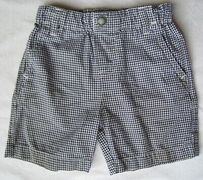 Nautica Baby Boy 12m Shorts Elastic Waist Black Checkered Month Bottoms