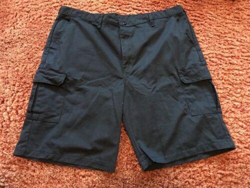"Red Kap Men PT66 Industrial Used Cargo Work Shorts 10/"" Inseam Navy Size 34"