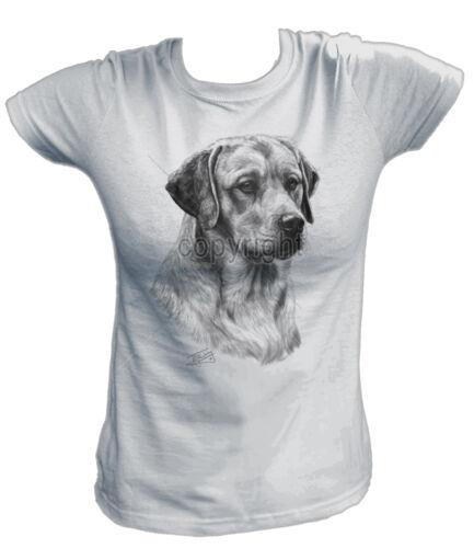 Damen T-Shirt 13177 LABRADOR RETRIEVER Hund Dog Welpe Breed Rasse Haustier Labbi