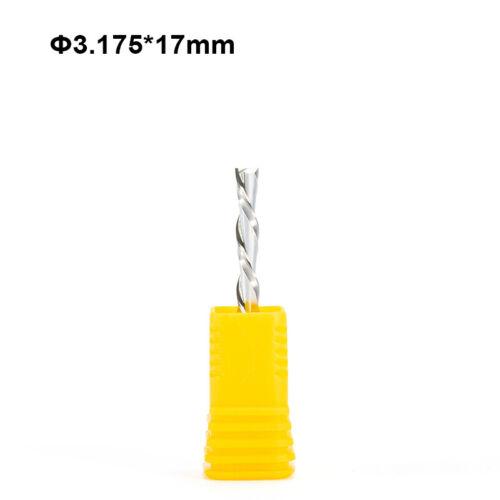 3p 3.175*17mm Left Spiral Milling Cutter Down Cut Two Flute CNC Wood Router Bit