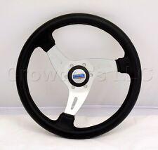 Sport Line Italian 350mm Vortice Marine Boat Steering Wheel - Black Polyurethane
