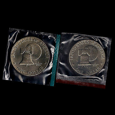 "1977 P+D Eisenhower /""Ike/"" Dollar Choice Uncirculated in Cellophane from Mint Set"