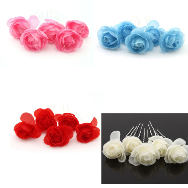Bridal Girl Lady Camellia Flower Pattern U Hair Pin Hairpin Clips