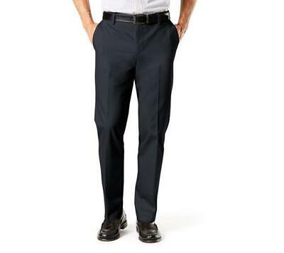 Dockers Signature Khaki Straight Fit Navy Blue Lux Cotton Stretch Comfort Pants
