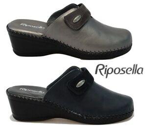 comprare popolare ceb8e f58aa Dettagli su Ciabatte pantofole da donna Riposella invernali pelle memory  zeppa strappo 3666