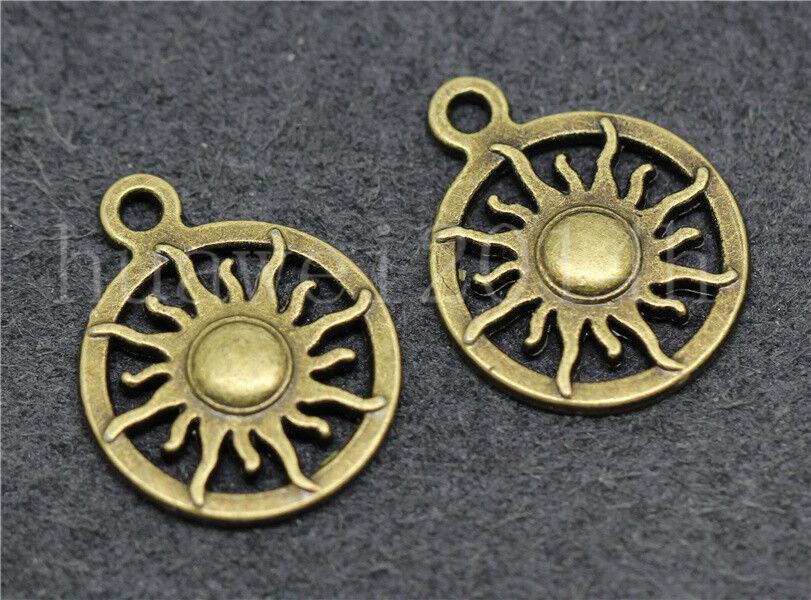 10//50//260pcs Tibetan Silver Beautiful LOVE Circular Jewelry Charms Pendant 14mm